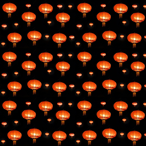 chinese lampion fabric by stofftoy on Spoonflower - custom fabric