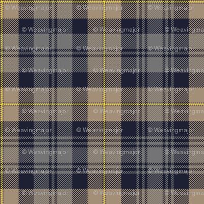 "Gordon Highlanders tartan, 7"" weathered"