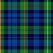 "Gordon Highlanders tartan, 7"" modern colors"