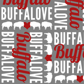 Buffalo NY (Buffalove Red and Gray)