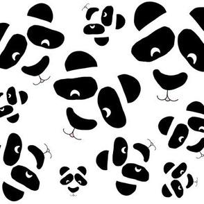 Smiling Panda Bears allover