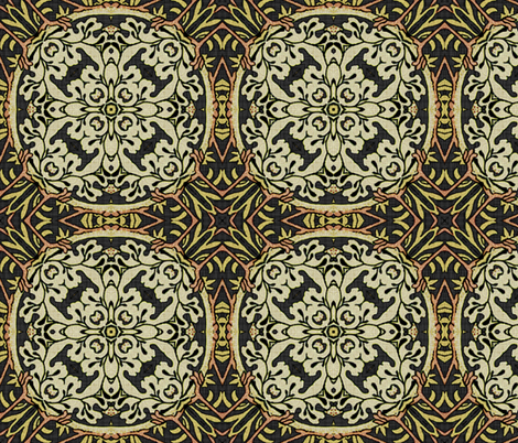 Reflections on William Morris ~ Strawberry Thief ~ Soft ~ III fabric by peacoquettedesigns on Spoonflower - custom fabric