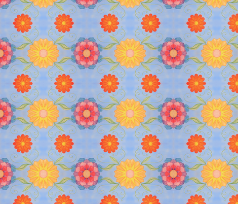 floral fabric by edinburghese on Spoonflower - custom fabric