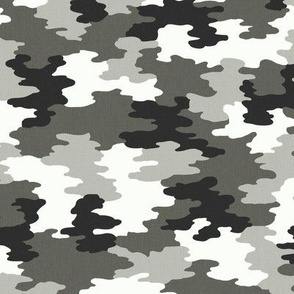 Camo Black/White/Grey Camoflauge