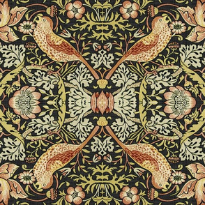 Reflections on William Morris ~ Strawberry Thief ~ Soft ~ XVI