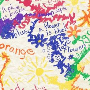 Crayon Challenge - Color Fascination, Discovering Color, Half Drop Repeat