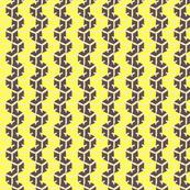 Tracks - Amethyst & Bright Yellow