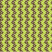 Tracks - Nut Brown & Lime