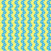Tracks - Chinese Blue & Acid Yellow