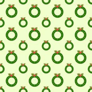 Wreath  w/ Holly