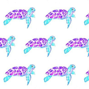 watercolor turtles