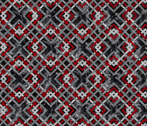 Cheater Quilt Carpenters Square Pattern Black Red Grey fabric by wickedrefined on Spoonflower - custom fabric