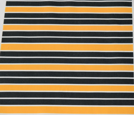 Greenish Black and Orange Horizontal Stripe
