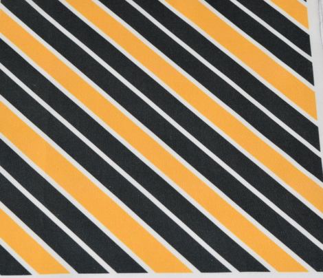 Greenish Black and Orange Diagonal Stripe