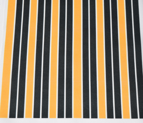 Greenish Black and Orange Vertical Stripe