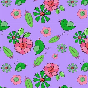 2_TK-1-Baby_Bird_Flowers-Brite_Pink_Green-200