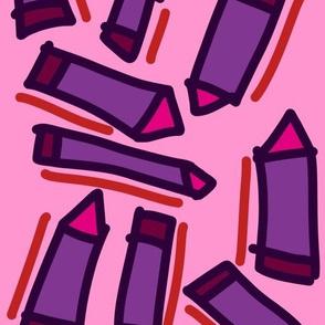Techno XXXVI (2016) (Crayons)