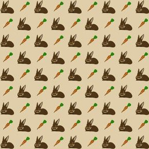 brown rabbit and carrot