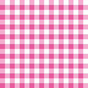 Gingham Bright Pink