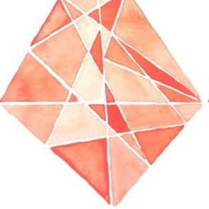 Rhombus Coral Stone in watercolor