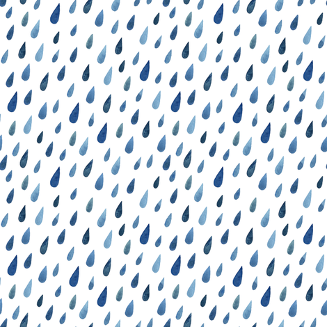 watercolor raindrops less fabric by alenaganzhela on Spoonflower - custom fabric