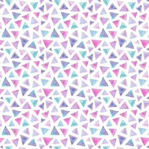 pink blue lilac triangles