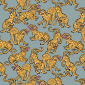 Tiger Stripes Large Duck Egg Blue