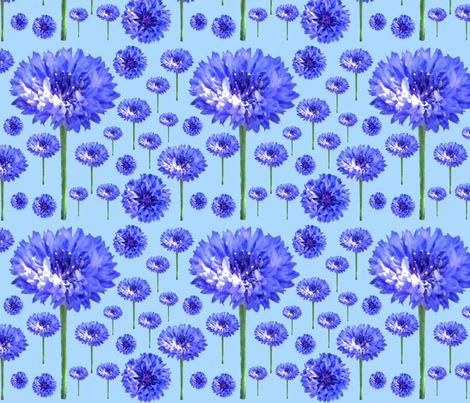 Cornflower Days fabric by floramoon on Spoonflower - custom fabric
