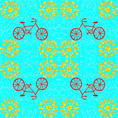 Orange_Bicycle_and_Flowers-ed