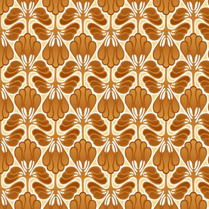 Leafy abstract in golden browns