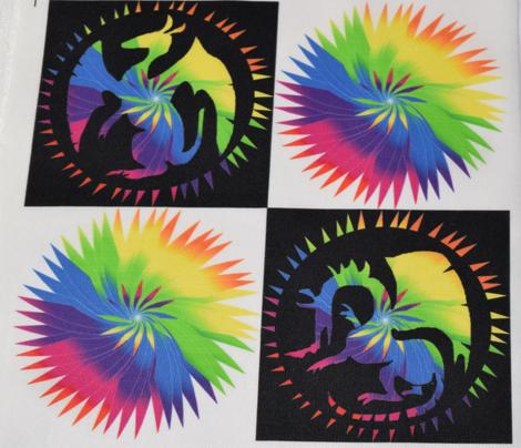 Rainbow Dragon Checkerboard