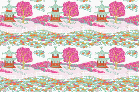 Cloud Pagoda in Pop Fizz fabric by danikaherrick on Spoonflower - custom fabric