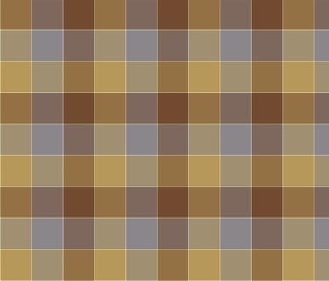 "paneled tartan - 6"" - summer browns fabric by weavingmajor on Spoonflower - custom fabric"