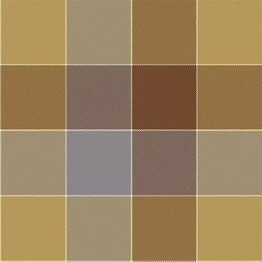 "paneled tartan - 6"" - summer browns"
