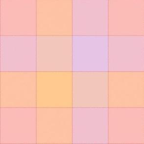 """paneled tartan - 6"""" - sherbet pink"""