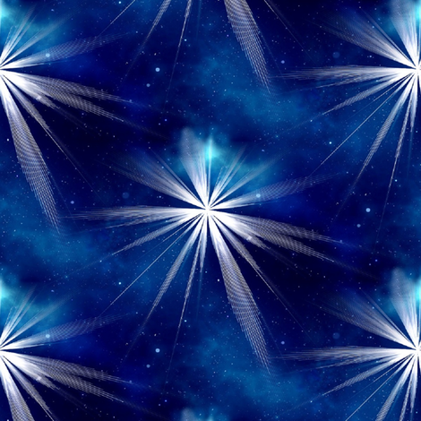 blue star of bethlehem fabric by stofftoy on Spoonflower - custom fabric