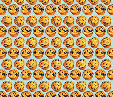 Blueberry Muffin Pattern fabric by kellygilleran on Spoonflower - custom fabric