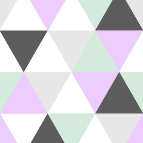 Lavender Mint Grey Triangles_rev