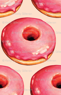 Strawberry Donut Pattern