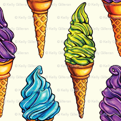 Purple Blue Green Ice Cream