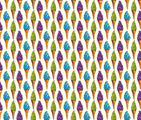 Purple Blue Green Ice Cream fabric by kellygilleran on Spoonflower - custom fabric