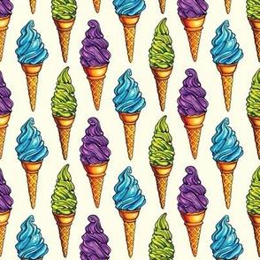 Purple Blue Green Ice Cream