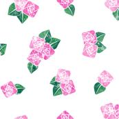 Craftsmen Square Roses White Pink