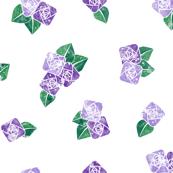 Craftsmen Square Roses White Purple