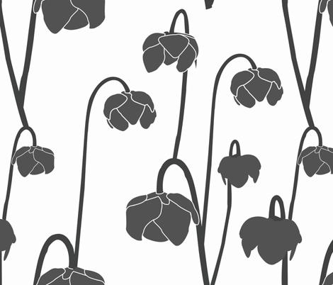 pitcherplantgrey fabric by krista_power on Spoonflower - custom fabric