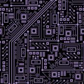 Evil Robot Circuit Board (Extra Large Purple)