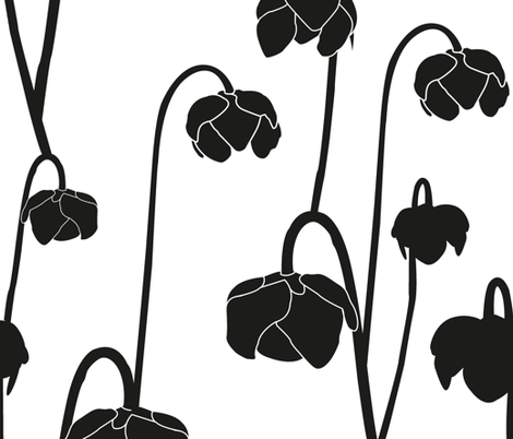 pitcherplantblack fabric by krista_power on Spoonflower - custom fabric