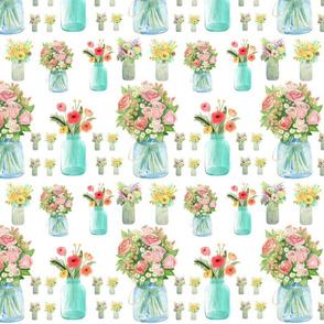 Mason Jars & Flowers