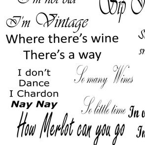 Black and White Wine Quotes