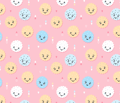 Happy Cute Cookies fabric by nossisel on Spoonflower - custom fabric